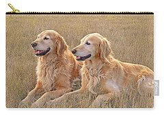 Golden Retrievers In Golden Field Carry-all Pouch
