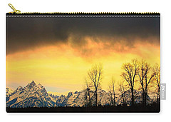 Carry-all Pouch featuring the photograph Grand Tetons Wyoming by Amanda Stadther