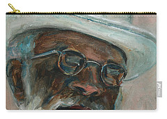 Gray Beard Under White Hat Carry-all Pouch