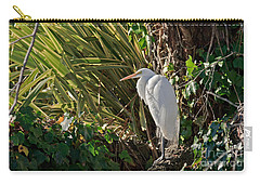 Carry-all Pouch featuring the photograph Great Egret by Kate Brown