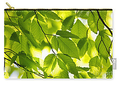 Green Spring Leaves Carry-all Pouch