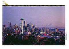 High Angle View Of A City At Sunrise Carry-all Pouch
