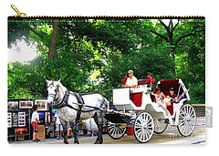 Horse And Carriage In Central Park Carry-all Pouch