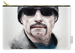 Carry-all Pouch featuring the mixed media John Travolta In The Taking Of Pelham 123  by Jim Fitzpatrick