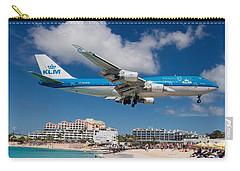 K L M Landing At St. Maarten Carry-all Pouch