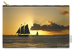 Carry-all Pouch featuring the photograph Key West Sunset by Olga Hamilton