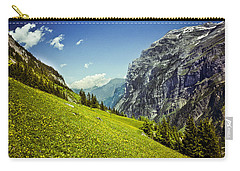 Carry-all Pouch featuring the photograph Lauterbrunnen Valley In Bloom by Jeff Goulden
