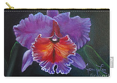Carry-all Pouch featuring the painting Lavender Orchid by Jenny Lee