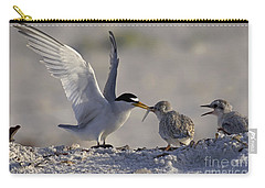 Least Tern Feeding It's Young Carry-all Pouch by Meg Rousher