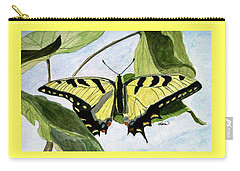 Carry-all Pouch featuring the painting Male Eastern Tiger Swallowtail by Angela Davies
