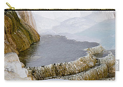 Carry-all Pouch featuring the photograph Mammoth Terraces by Michael Chatt