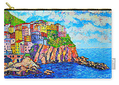 Manarola Cinque Terre Italy  Carry-all Pouch by Ana Maria Edulescu