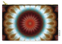 Carry-all Pouch featuring the digital art Mandala 83 by Terry Reynoldson