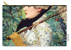 Carry-all Pouch featuring the photograph Manet's Spring by Cora Wandel