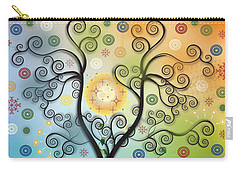 Carry-all Pouch featuring the digital art Moon Swirl Tree by Kim Prowse