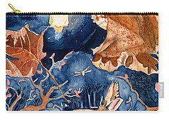 Moths To A Flame Carry-all Pouch by Katherine Miller