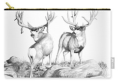 2 Muley Bucks Carry-all Pouch