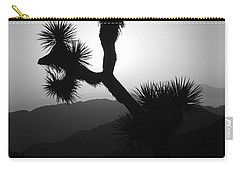New Photographic Art Print For Sale Joshua Tree At Sunset Black And White Carry-all Pouch