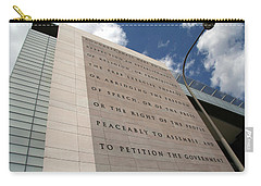 Carry-all Pouch featuring the photograph The Newseum by Cora Wandel