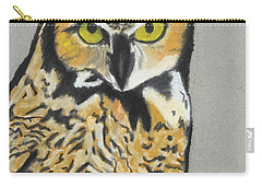 Carry-all Pouch featuring the painting Night Owl by Jeanne Fischer