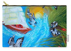Nine Eagles For Success. Soul Collection Carry-all Pouch by Oksana Semenchenko