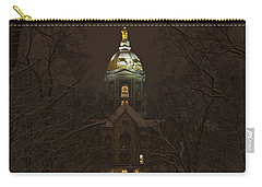 Notre Dame Golden Dome Snow Carry-all Pouch by John Stephens