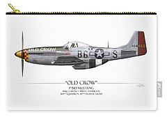 Old Crow P-51 Mustang - White Background Carry-all Pouch