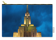 Oquirrh Mountain Lds Temple Evening Thunderstorm Carry-all Pouch