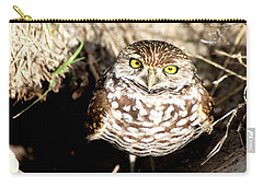 Carry-all Pouch featuring the photograph Owl by Oksana Semenchenko
