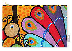 2 Peacocks And Tree Carry-all Pouch by Pristine Cartera Turkus