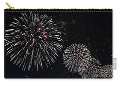 Carry-all Pouch featuring the photograph Pink Fireworks by Lilliana Mendez
