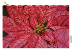Carry-all Pouch featuring the drawing Poinsettia by Marna Edwards Flavell
