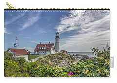 Carry-all Pouch featuring the photograph Portland Headlight by Jane Luxton