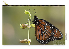 Carry-all Pouch featuring the photograph Queen Butterfly by Meg Rousher
