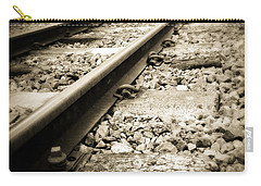 Railway Tracks Carry-all Pouch by Les Cunliffe