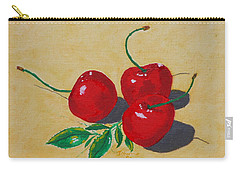 Carry-all Pouch featuring the painting Red Cherries by Johanna Bruwer