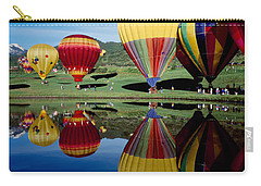 Reflection Of Hot Air Balloons Carry-all Pouch