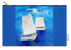 2 Sailboats Carry-all Pouch by Carlin Blahnik