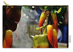 Carry-all Pouch featuring the photograph Sausage And Peppers by Lilliana Mendez