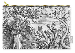 Scene From The Apocalypse Carry-all Pouch by Albrecht Durer or Duerer