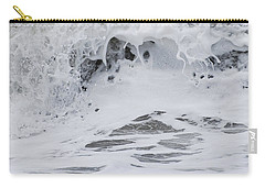 Carry-all Pouch featuring the photograph Seafoam Wave by Jani Freimann