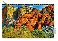 Carry-all Pouch featuring the photograph Sedona Arizona - Wilderness Area by Bob and Nadine Johnston