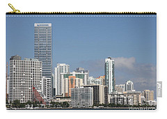 Skyline Miami Carry-all Pouch by Christiane Schulze Art And Photography