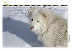 Snowy Nose Carry-all Pouch by Fiona Kennard