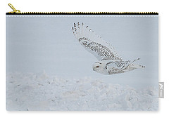 Carry-all Pouch featuring the photograph Snowy Owl #2/3 by Patti Deters