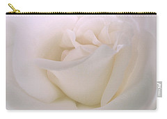 Softness Of A White Rose Flower Carry-all Pouch by Jennie Marie Schell