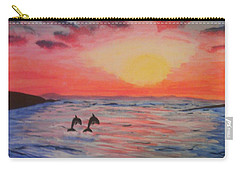 Carry-all Pouch featuring the painting 2 Souls Reunited by Thomasina Durkay