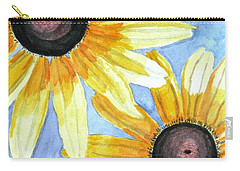 Carry-all Pouch featuring the painting Summer Susans by Angela Davies