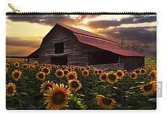 Sunflower Farm Carry-all Pouch by Debra and Dave Vanderlaan