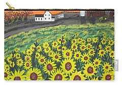 Sunflower Valley Farm Carry-all Pouch by Jeffrey Koss